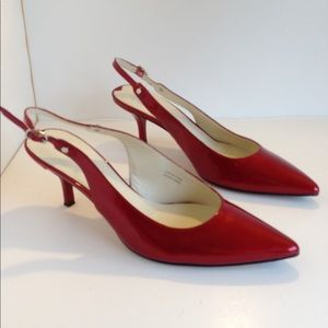 Via spiga red patent leather pumps